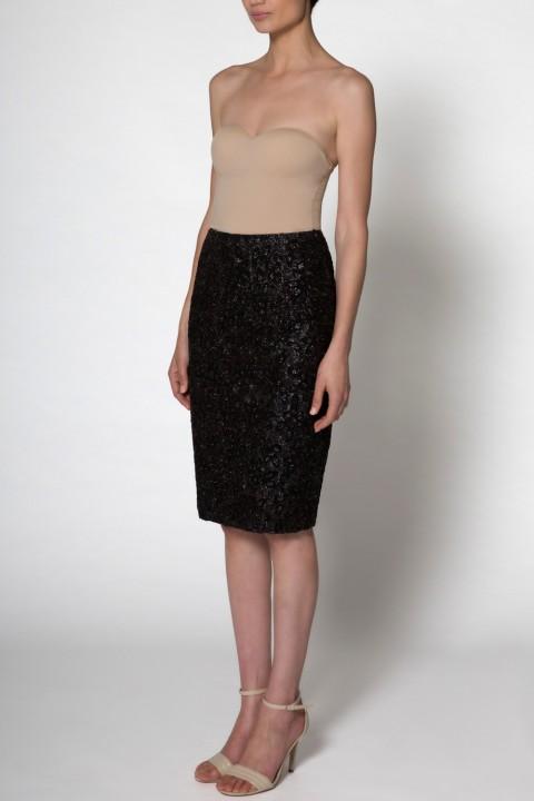 alisondaviscollectionfulllengthsideblackskirtdesignerformaleveningwear